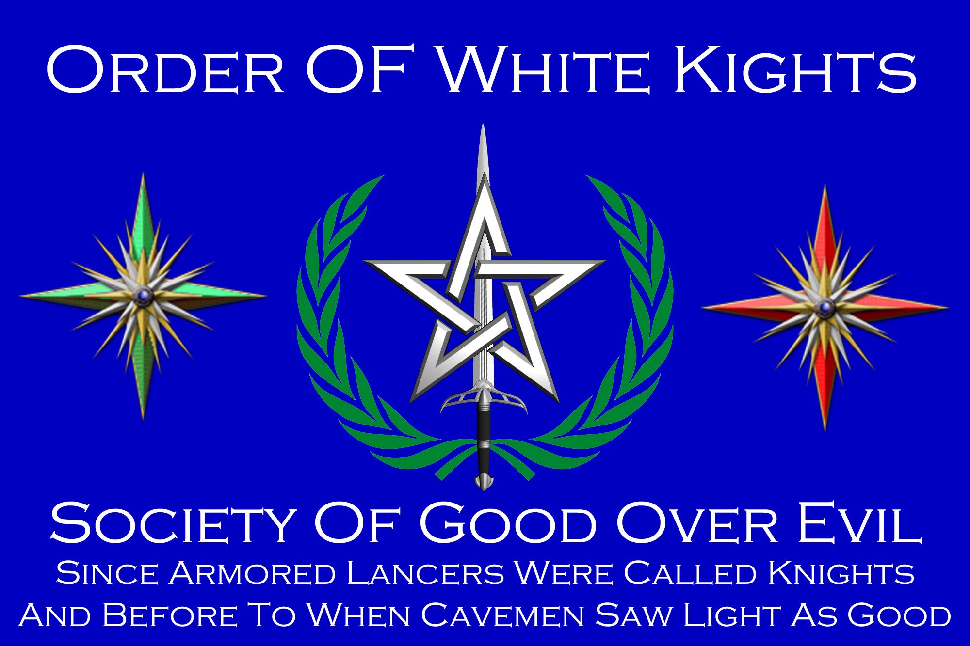 Order Of White Knights Flag